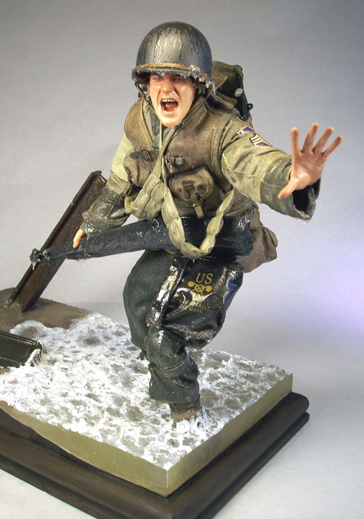 Toy Model Gallery : Omaha beach d day scale model figures military